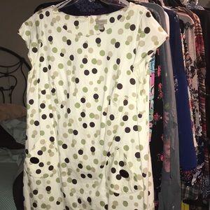 Kim Rogers Woman White Polka Dot Sheath Dress, 20W